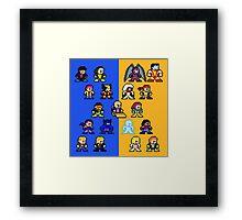 8-bit Blue and Gold X-Men Framed Print