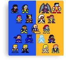 8-bit Blue and Gold X-Men Canvas Print