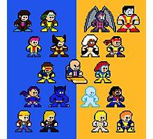 8-bit Blue and Gold X-Men Photographic Print