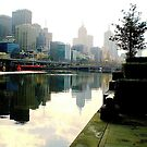 Misty Reflections in Yarra River of Melbourne City. Vic. Aust. by EdsMum