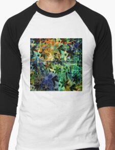 Abstract Art Retro Trendy Floral Pattern Men's Baseball ¾ T-Shirt