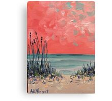 Orange sky Canvas Print