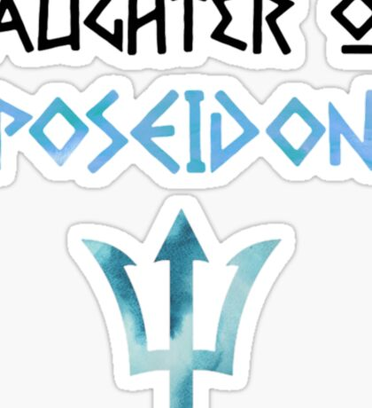 daughter of poseidon Sticker
