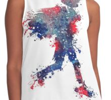 Red, White, and Blue Splash Contrast Tank
