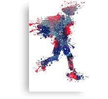 Red, White, and Blue Splash Canvas Print