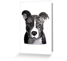 Good Dog Pit Bull Greeting Card