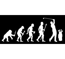 Funny Evolution Of Golf Photographic Print