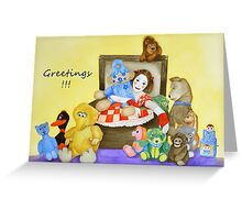 Greetings from a Mime & toys Greeting Card