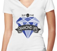 Seventeen/17 'Shining Diamond' Lyrics KPOP Women's Fitted V-Neck T-Shirt