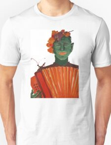 Fantomas with an accordion Unisex T-Shirt