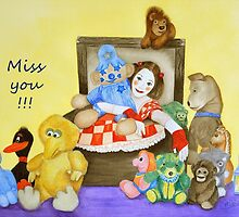 Mime & toys miss you by Baina Masquelier