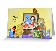 Mime & toys miss you Greeting Card