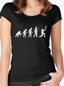 Cricket Evolution Of Man  Women's Fitted Scoop T-Shirt