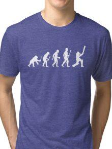 Cricket Evolution Of Man  Tri-blend T-Shirt