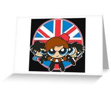 Powerpuff Brits Greeting Card
