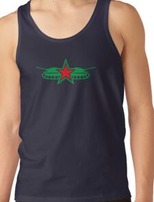 GREEN ARMY tank with military stars Tank Top