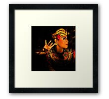 Bali, the mysterious ways. Framed Print