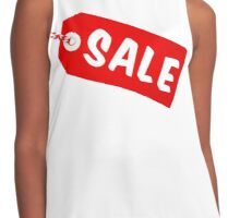 Sale Tag With String Contrast Tank