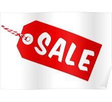 Sale Tag With String Poster