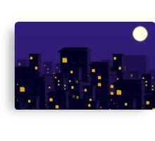Pixel Night Sky Canvas Print