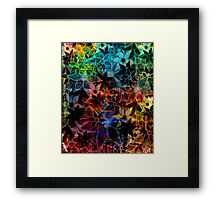 Abstract Art Retro Trendy Floral Pattern Framed Print