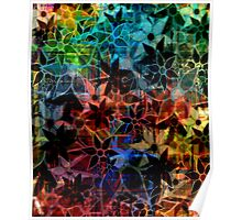 Abstract Art Retro Trendy Floral Pattern Poster