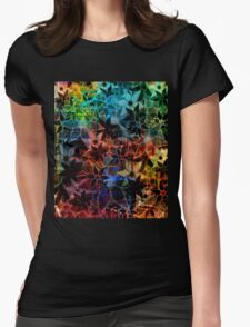 Abstract Art Retro Trendy Floral Pattern T-Shirt
