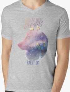 """Party on, Doggo."" Mens V-Neck T-Shirt"