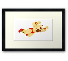 Zangief Minimal  Framed Print