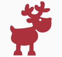Cute Christmas Reindeer Baby Tee