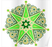 Elven Star, Symbol Perfection & Protection, Heptagram, Magic Poster