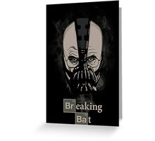Breaking Bat Greeting Card