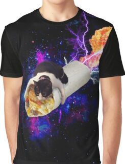 Breakfast Burrito Space Cat! Graphic T-Shirt