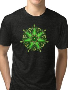 Elven Star, Symbol Perfection & Protection, Heptagram, Magic Tri-blend T-Shirt