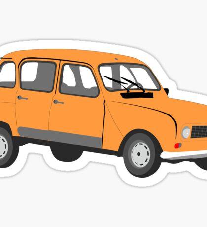 Renault 4 GTL in Orange Sticker