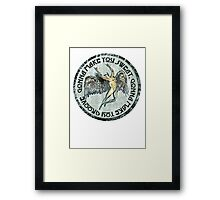 ICARUS THROWS THE HORNS - sweat and groove NEW DESIGN Framed Print