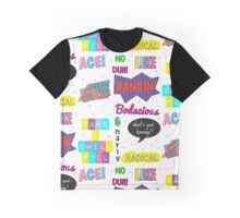 80's Slang Design Graphic T-Shirt