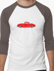Red Karmann Ghia Men's Baseball ¾ T-Shirt