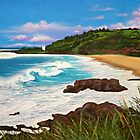 Waimea Bay - greeting card by Emi Nakamura
