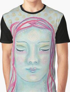 Meditating Girl Graphic T-Shirt