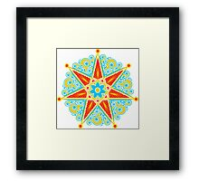 Elven Star, Perfection & Protection, Heptagram,  Framed Print