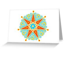 Elven Star, Perfection & Protection, Heptagram,  Greeting Card