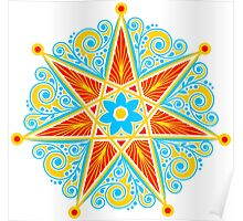 Elven Star, Perfection & Protection, Heptagram,  Poster