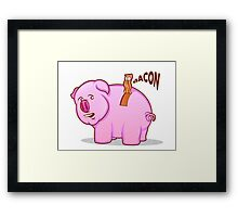 Bacon Pig Framed Print