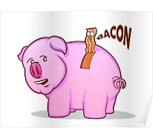 Bacon Pig Poster