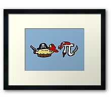 Pie and Pi Pirates Framed Print