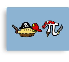 Pie and Pi Pirates Canvas Print