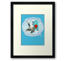 "Mozart and Marie "" A Queen in a Fish Bowl"" Framed Print"