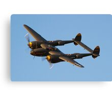 The United States Army Air Corps P-38 Lightning Canvas Print