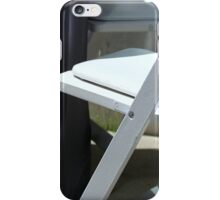 Four White Wooden Chairs... iPhone Case/Skin